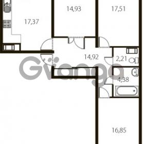 Продается квартира 3-ком 93 м² улица Катерников 1, метро Проспект Ветеранов