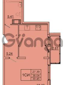 Продается квартира 1-ком 38.04 м² Колтушское шоссе 1к 3, метро Улица Дыбенко