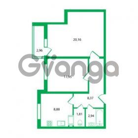 Продается квартира 2-ком 54.11 м² Колтушское шоссе 1к 3, метро Улица Дыбенко