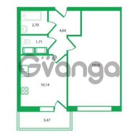 Продается квартира 1-ком 37.2 м² Колтушское шоссе 1к 3, метро Улица Дыбенко