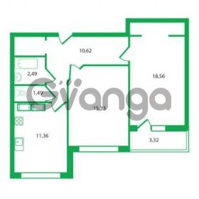 Продается квартира 2-ком 59.75 м² Колтушское шоссе 1к 3, метро Улица Дыбенко