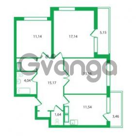 Продается квартира 3-ком 74.23 м² Колтушское шоссе 1к 3, метро Улица Дыбенко