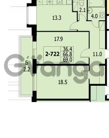 Продается квартира 2-ком 66.7 м² улица Адмирала Коновалова 2, метро Автово