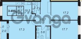 Продается квартира 3-ком 97 м² улица Адмирала Трибуца 5, метро Автово