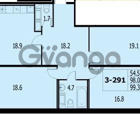 Продается квартира 3-ком 98.3 м² улица Адмирала Трибуца 7, метро Автово