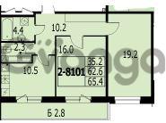 Продается квартира 2-ком 65.4 м² улица Адмирала Трибуца 7, метро Автово