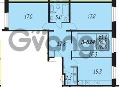 Продается квартира 3-ком 86.5 м² улица Адмирала Трибуца 7, метро Автово