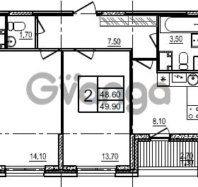 Продается квартира 2-ком 49 м² улица Крыленко 1, метро Улица Дыбенко