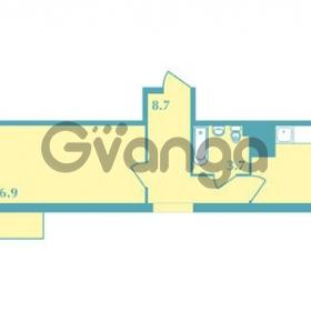 Продается квартира 1-ком 39.6 м² Валдайская улица 11, метро Купчино