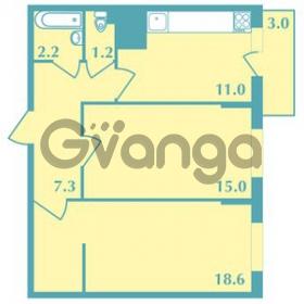 Продается квартира 2-ком 55.3 м² Валдайская улица 11, метро Купчино