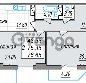 Продается квартира 2-ком 76 м² проспект Просвещения 85, метро Гражданский проспект