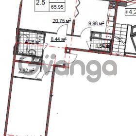 Продается квартира 2-ком 65 м² Парашютная улица 54, метро Комендантский проспект