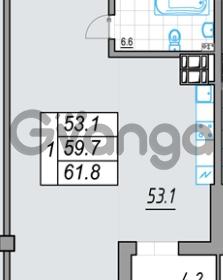 Продается квартира 1-ком 61 м² 24 линия В.О. 29А, метро Василеостровская