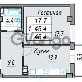 Продается квартира 1-ком 46 м² 24 линия В.О. 29А, метро Василеостровская