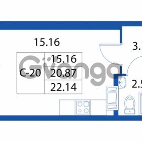 Продается квартира 1-ком 20.87 м² улица Шувалова 1, метро Девяткино
