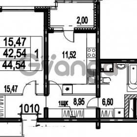 Продается квартира 1-ком 44.54 м² Парашютная улица 54, метро Комендантский проспект