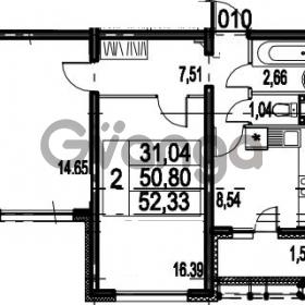 Продается квартира 2-ком 52.33 м² Парашютная улица 54, метро Комендантский проспект