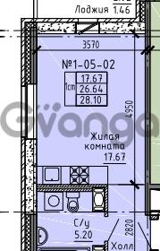 Продается квартира 1-ком 28 м² Советский проспект 24, метро Рыбацкое