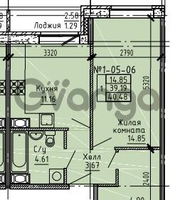Продается квартира 1-ком 40 м² Советский проспект 24, метро Рыбацкое