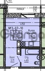 Продается квартира 1-ком 24 м² Советский проспект 24, метро Рыбацкое
