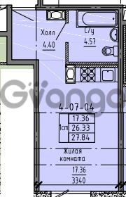 Продается квартира 1-ком 27 м² Советский проспект 24, метро Рыбацкое