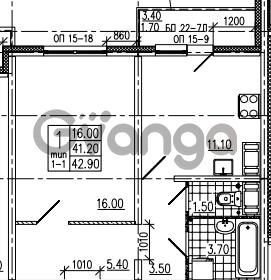 Продается квартира 1-ком 42 м² Маршала Блюхера 12АЭ, метро Лесная