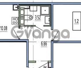 Продается квартира 1-ком 37 м² улица Пионерстроя 27, метро Проспект Ветеранов