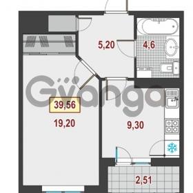 Продается квартира 1-ком 39 м² Немецкая улица 1, метро Улица Дыбенко