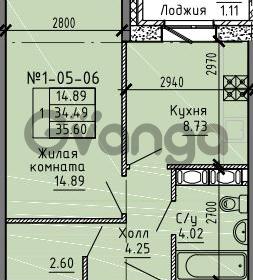 Продается квартира 1-ком 35.6 м² Советский проспект 24, метро Рыбацкое