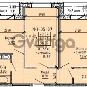 Продается квартира 2-ком 56.07 м² Советский проспект 24, метро Рыбацкое