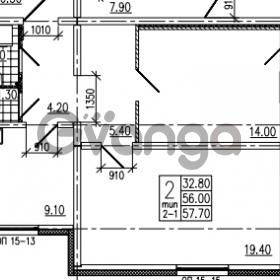Продается квартира 2-ком 57 м² Советский проспект 24, метро Рыбацкое