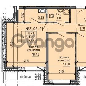 Продается квартира 2-ком 62.57 м² Советский проспект 24, метро Рыбацкое