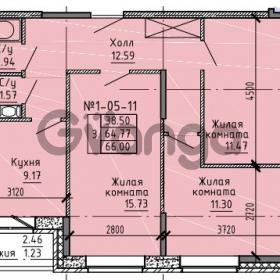 Продается квартира 3-ком 66 м² Советский проспект 24, метро Рыбацкое