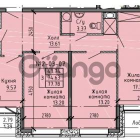 Продается квартира 3-ком 77.78 м² Советский проспект 24, метро Рыбацкое