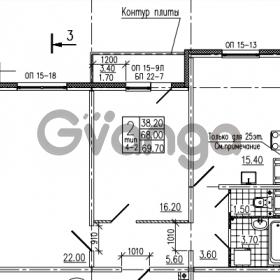 Продается квартира 2-ком 69 м² Маршала Блюхера 12АЭ, метро Лесная