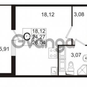 Продается квартира 1-ком 24 м² проспект Строителей 1, метро Улица Дыбенко