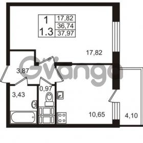 Продается квартира 1-ком 36 м² проспект Строителей 2, метро Улица Дыбенко