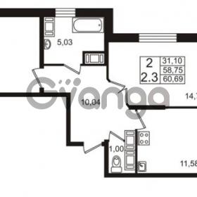 Продается квартира 2-ком 58 м² проспект Строителей 2, метро Улица Дыбенко