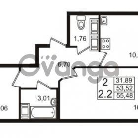 Продается квартира 2-ком 53 м² проспект Строителей 2, метро Улица Дыбенко