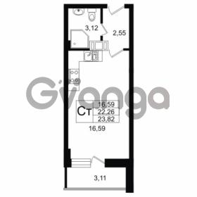 Продается квартира 1-ком 22.26 м² Дальневосточный проспект 40, метро Улица Дыбенко
