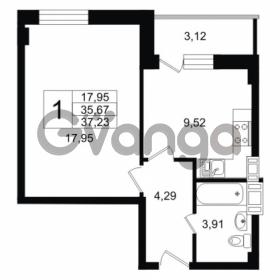 Продается квартира 1-ком 35.67 м² Дальневосточный проспект 40, метро Улица Дыбенко