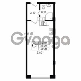 Продается квартира 1-ком 29.25 м² Дальневосточный проспект 40, метро Улица Дыбенко
