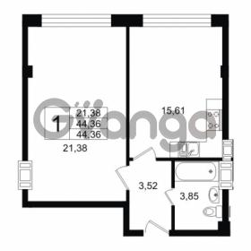 Продается квартира 1-ком 44.36 м² Дальневосточный проспект 40, метро Улица Дыбенко