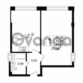 Продается квартира 1-ком 44.06 м² Дальневосточный проспект 40, метро Улица Дыбенко
