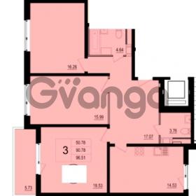 Продается квартира 3-ком 96 м² Пулковское шоссе 118, метро Купчино