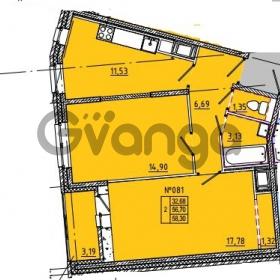 Продается квартира 2-ком 58 м² Камышинская улица 22к 2, метро Ладожская