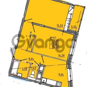Продается квартира 2-ком 54 м² Камышинская улица 22к 2, метро Ладожская