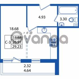 Продается квартира 1-ком 26 м² Охтинская аллея 2, метро Девяткино