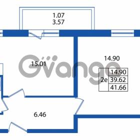 Продается квартира 1-ком 39 м² Охтинская аллея 2, метро Девяткино