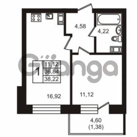 Продается квартира 1-ком 38.22 м² бульвар Менделеева 7, метро Девяткино
